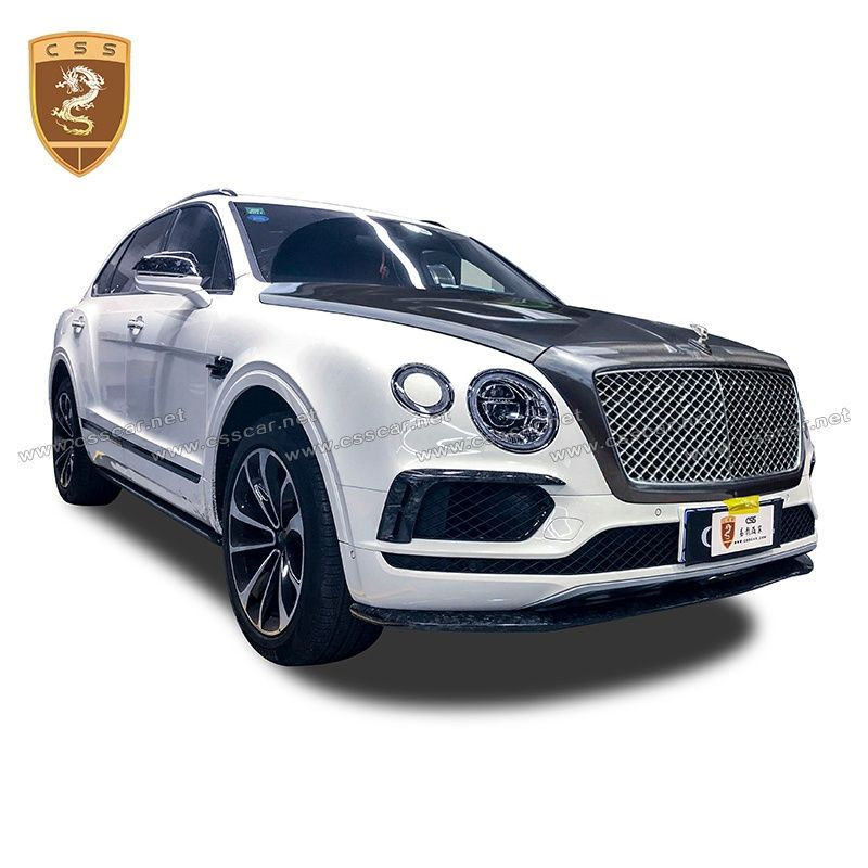 Bentayga W12 6.0T First Edition carbon body kit with mansory hood and main grille