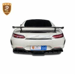 Benz AMG GT GTR rear bumper assembly with carbon fiber exhaust tips